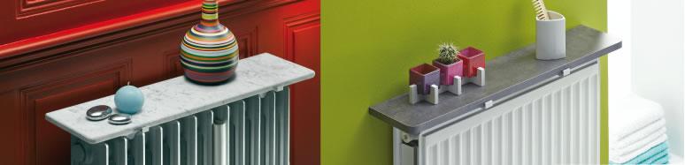 des accessoires pour mon radiateur tablette de radiateur chene anthracite beton cire. Black Bedroom Furniture Sets. Home Design Ideas